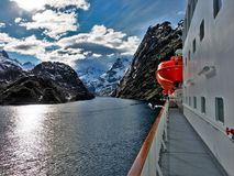 Il Trollfjorden famoso in Norvegia Fotografie Stock