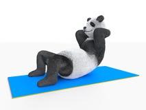 Il tronco arriccia gli sport che piegano il miglioramento del muscolo addominale Fotografie Stock