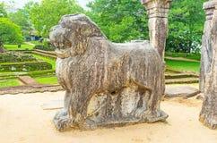 Il trono antico del ` s del leone Fotografia Stock Libera da Diritti