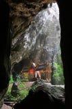 Il trono nella caverna Immagini Stock Libere da Diritti