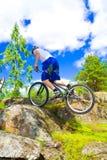 Il trucco estremo della bici Immagini Stock