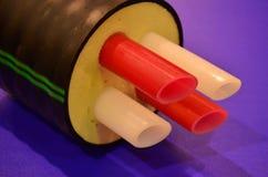 Il tubo è nell'efficace isolamento termico Immagine Stock