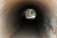 Il tunnel di canalizzazione di un corso d'acqua alle cadute di McWay trascina in Big Sur, la California, U.S.A. fotografia stock