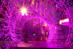 Il tunnel di illuminazione Immagine Stock Libera da Diritti