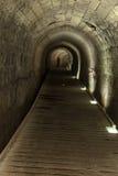 Tunnel di Templar in Acco Immagine Stock