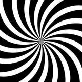 Il turbinio ipnotico allinea il fondo nero bianco astratto del modello di spirale di vettore dell'illusione ottica Fotografia Stock Libera da Diritti