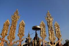 Il turismo dorato del triangolo in Chiang Rai, Tailandia Fotografie Stock