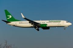 Il Turkmenistan Boeing 737 Fotografia Stock Libera da Diritti