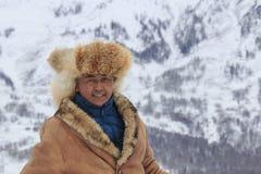 Il Tuva equipaggia la concorrenza in una concorrenza dell'ippica nelle montagne di Altai in Cina Immagini Stock Libere da Diritti