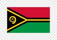 Il Vanuatu - bandiera nazionale illustrazione di stock