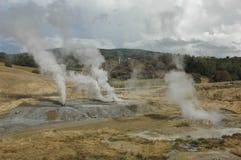 Il vapore dello zolfo di energia geotermica Immagini Stock Libere da Diritti