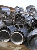 Il vario alluminio rotolato arriva a fiumi l'iarda del residuo Immagini Stock Libere da Diritti