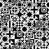 Il vario marocchino in bianco e nero piastrella il modello senza cuciture, vettore Fotografia Stock Libera da Diritti