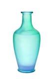 Il vaso di vetro glassato di verde blu ha isolato immagine stock libera da diritti