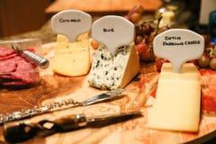 Il vassoio di formaggio Fotografie Stock Libere da Diritti