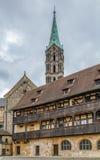 Il vecchi palazzo & x28; Alte Hofhaltung& x29; , Bamberga, Germania Fotografia Stock Libera da Diritti