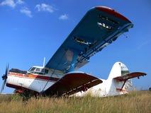 Il vecchio aereo tagliato dell'annata Fotografia Stock Libera da Diritti