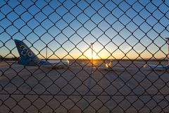 Il vecchio, aeroporto abbandonato di Atene, Grecia fotografie stock libere da diritti
