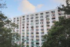 il vecchio alloggio a Pak Tin Estate Fotografie Stock