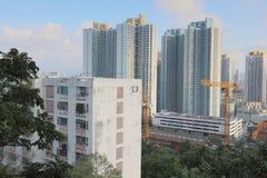 il vecchio alloggio a Pak Tin Estate Immagine Stock Libera da Diritti