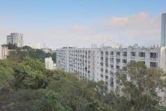 il vecchio alloggio a Pak Tin Estate Fotografia Stock Libera da Diritti