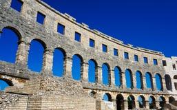 Il vecchio anfiteatro Pola - in Croazia Fotografia Stock Libera da Diritti