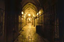 Il vecchio bazar arabo a Gerusalemme Fotografie Stock Libere da Diritti