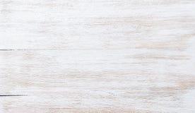 Il vecchio bianco liso ha dipinto la struttura di legno, la carta da parati o il fondo Fotografia Stock