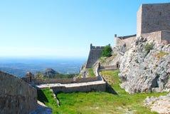 Il vecchio castello di Marvao (Portogallo, Alentejo) Fotografie Stock Libere da Diritti