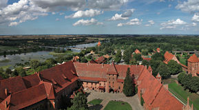 Il vecchio castello Malbork - in Polonia. Fotografia Stock