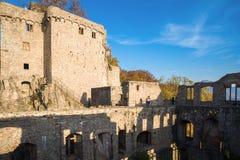Il vecchio castello storico Hohenbaden in Baden-Baden Fotografia Stock Libera da Diritti
