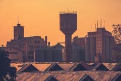 Il vecchio centro edificato a Lusaka, Zambia immagine stock