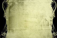 Il vecchio documento di stile floreale struttura il blocco per grafici Fotografie Stock