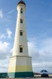 Il vecchio faro bianco di California in Aruba Immagini Stock Libere da Diritti