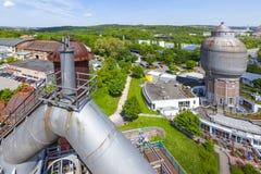 Il vecchio ferro funziona i monumenti in Neunkirchen Immagini Stock