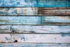 Il vecchio fondo dipinto del metallo assomiglia a legno Fotografia Stock