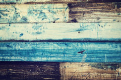 Il vecchio fondo dipinto del metallo assomiglia a legno - colori d'annata Fotografie Stock Libere da Diritti