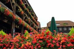 Il vecchio inglese tradizionale pittoresco alloggia Londra centrale Regno Unito Fotografia Stock