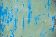 Il vecchio lerciume ha corroso la struttura arrugginita della parete del metallo Fotografia Stock Libera da Diritti