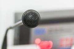 Il vecchio microfono Fotografia Stock Libera da Diritti