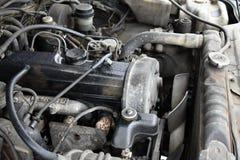 Il vecchio motore diesel, motore è spento Fotografia Stock