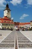Il vecchio municipio nel quadrato del consiglio, Brasov fotografia stock