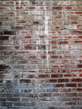 Il vecchio muro di mattoni con pittura spruzza Fotografia Stock Libera da Diritti