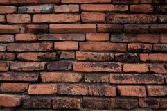 Il vecchio muro di mattoni in Tailandia Fotografie Stock Libere da Diritti