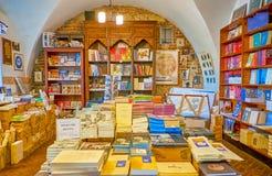 Il vecchio negozio di libro ebreo a Cracovia, Polonia immagine stock libera da diritti