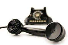 Il vecchio nero del telefono Fotografia Stock