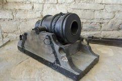 Il vecchio nocciolo del cannone Fotografie Stock Libere da Diritti