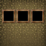 Il vecchio oro incornicia lo stile del Victorian Fotografia Stock