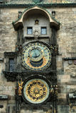 Il vecchio orologio, vecchia Praga, repubblica Ceca Fotografia Stock
