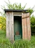 Il vecchio outhouse Fotografia Stock